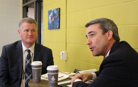 Elmbrook Superintendent Dr. Mark Hansen (left) and State Representative Hutton met in the Spartan Union on February 26. They discussed policies to improve education in Elmbrook. According to Rep. Hutton, the conversation's purpose was to plan a March 4 meeting about