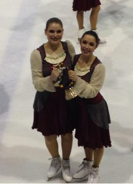 The Fon-Du-Lac Blades placed fourth in their national competition. Pictured above from left are Sara Kalupa and Erin Sankey.