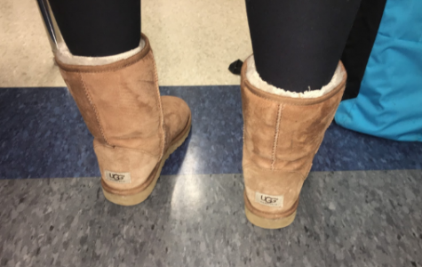 Uggs & leggings, worn by Amanda Meidl during the freezing days of December. Photo Cred: Erin Malloy