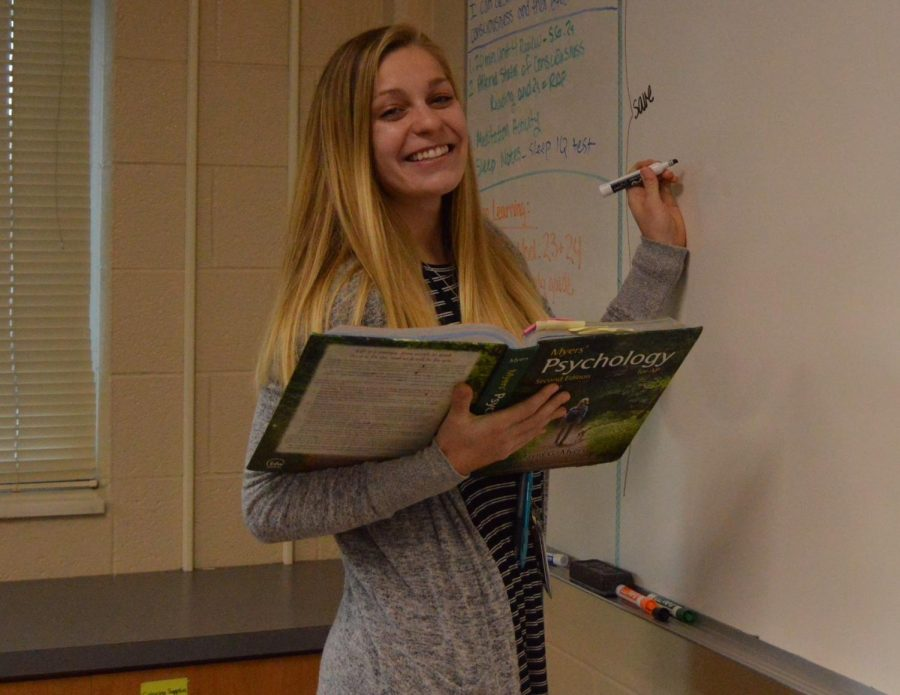 Ms. Enger finds the reasons behind people's behaviors extremely interesting. She hopes to encourage that curiosity with her students in AP Psychology.