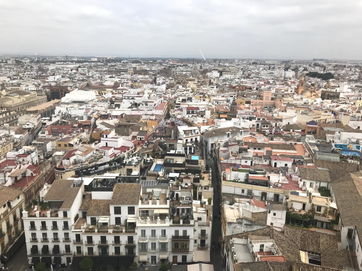 A top-down view of Madrid, Spain