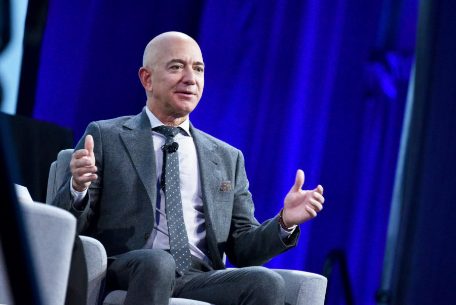 Blue+Origin+founder+Jeff+Bezos+speaks+after+receiving+the+2019+International+Astronautical+Federation+%28IAF%29+Excellence+in+Industry+Award+during+the+the+70th+International+Astronautical+Congress+at+the+Walter+E.+Washington+Convention+Center+in+Washington%2C+DC+on+October+22%2C+2019.+%28Photo+by+MANDEL+NGAN+%2F+AFP%29+%28Photo+by+MANDEL+NGAN%2FAFP+via+Getty+Images%29